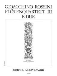 Flute Quartet No. 3 in B flat