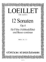 12 Flute Sonatas Op. 4 Vol. 1