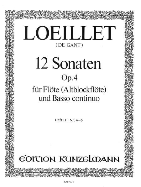 12 Flute Sonatas Op. 4 Vol. 2
