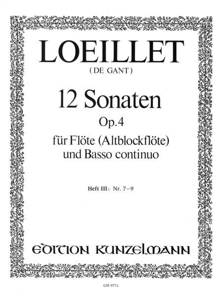 12 Flute Sonatas Op. 4 Vol. 3