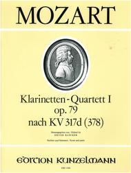 Clarinet Quartet in Bb Major K317d(378)