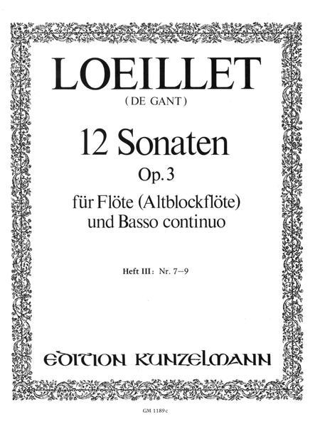 Flute Sonatas (12), Op. 3 - Volume 3