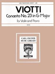 Concerto No. 23 in G Major