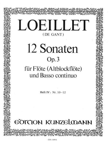 Flute Sonatas (12), Op. 3 - Volume 4