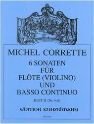 Flute Sonatas (6) in 2 Volumes, Vol. 2