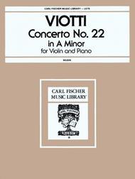 Concerto No. 22 in A Minor