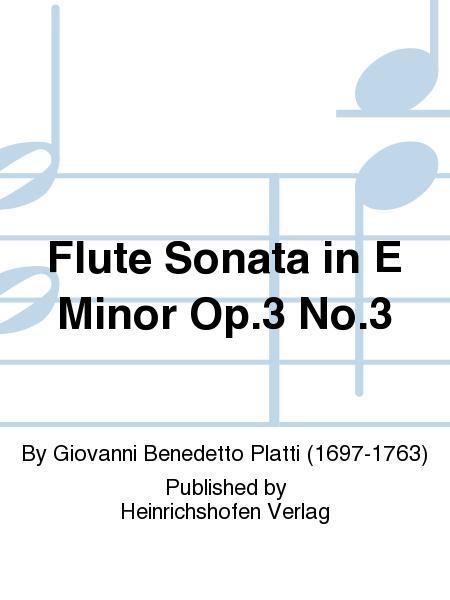 Flute Sonata in E Minor Op. 3 No. 3