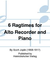 6 Ragtimes for Alto Recorder and Piano