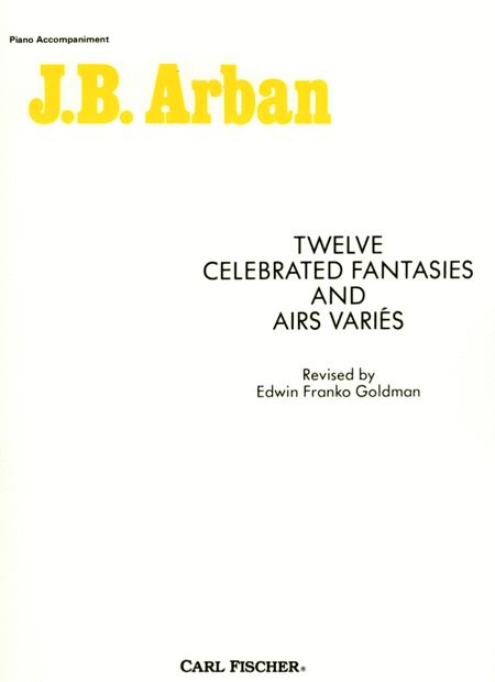 Twelve Celebrated Fantasies And Air Varies - Piano Accompaniment Part