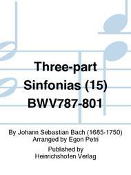 Three-part Sinfonias (15) BWV787-801