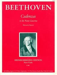 Cadenzas to Beethoven Piano Concertos Nos. 1 , 3 & 4