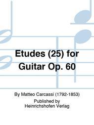 Etudes (25) for Guitar Op. 60