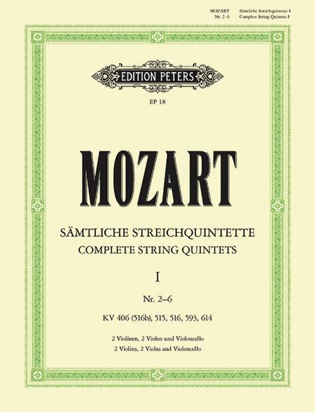 String Quintets, Volume 1 - Nos. 4-8