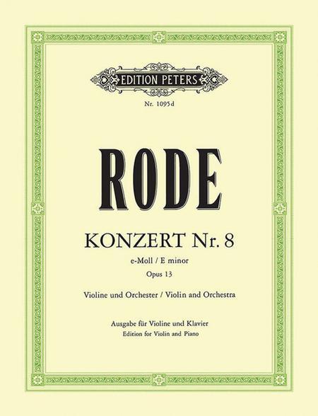 Concerto for Violin No. 8 in e minor Op. 13