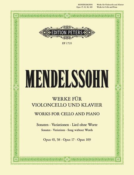 Werke fur Violoncello und Klavier - Complete