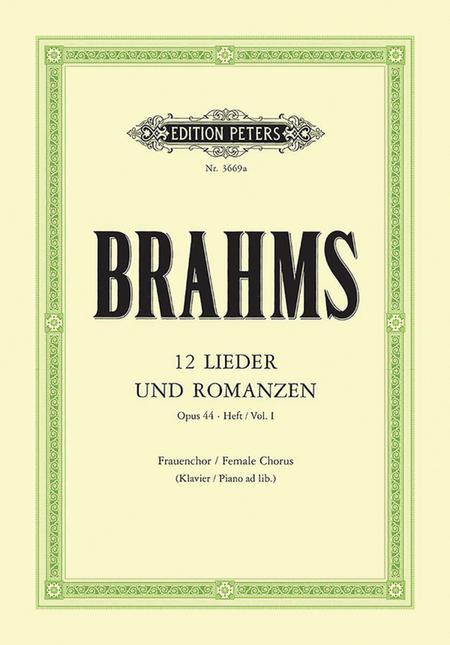 12 Lieder und Romanzen Op. 44 Vol. 1