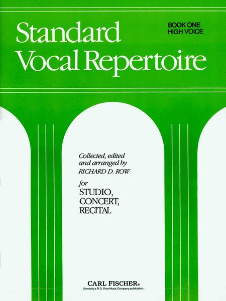 Standard Vocal Repertoire Volume 1 for High Voice