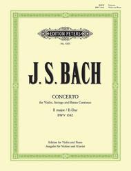 Violin Concerto No. 2 in E Major BWV 1042