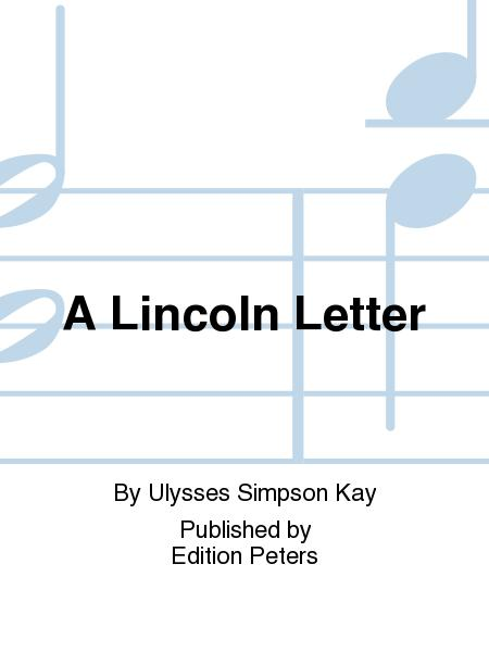 A Lincoln Letter